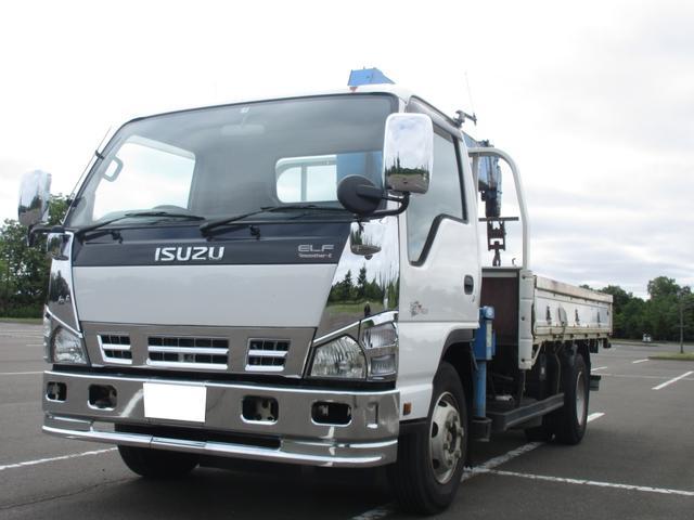 いすゞ エルフトラック タダノ6段クレーンワイヤー新品 スムーサー6速 積載3.5t