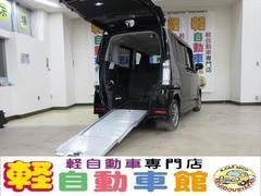 N−BOX+カスタムG 車いす仕様車 ナビ・TV ABS パワスラドア 4WD