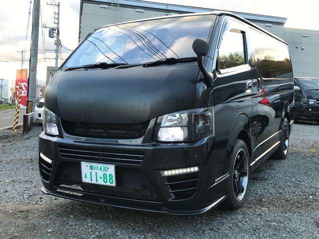 トヨタ ロングスーパーGL 4WD 5ドア フルセグメモリーナビ・バックカメラ キーレス エンジンスターター 社外ヘッドライト・バンパー・マフラー キーレス シートカバー