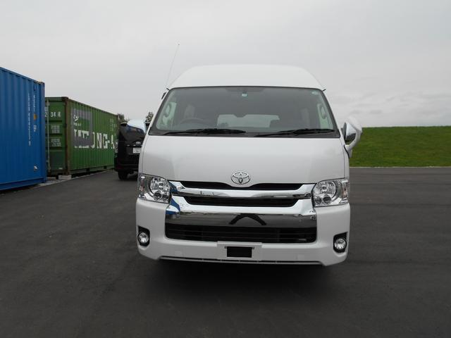 トヨタ  ディーゼルロングハイルーフ4WD 改造内容動力伝達装置 LED ETC ナビ バックモニター パールホワイト 寒冷地仕様