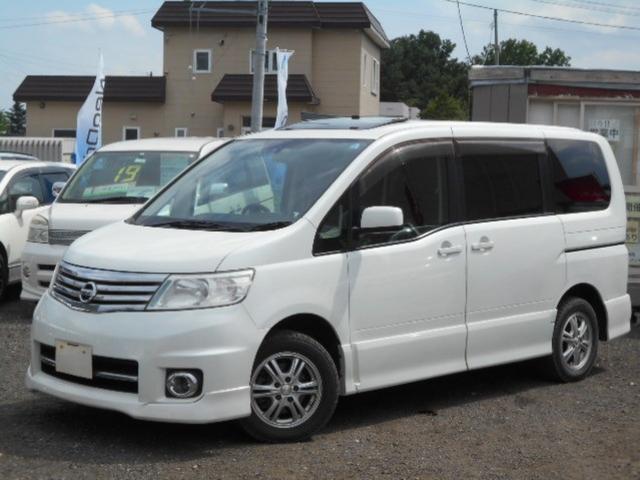 日産 ハイウェイスター 4WD Wサンルーフ 純正ナビTV Pスラ
