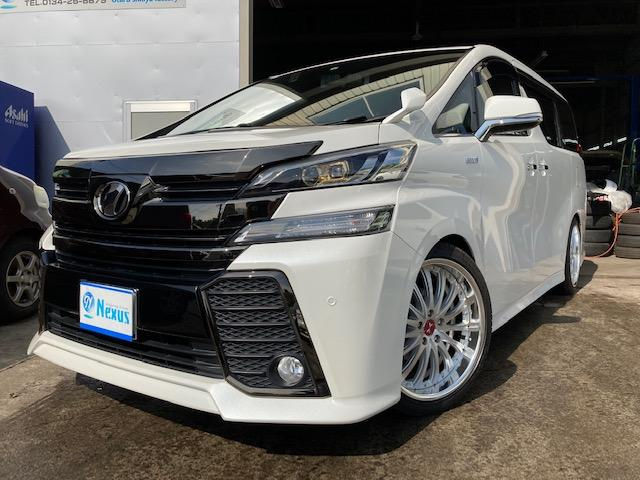トヨタ 2.5Z Aエディション ゴールデンアイズ 20インチAW/ローダウン/両側Pスライド/パワーバックドア/LEDヘッドライト/純正SDナビ/純正リアモニター/新規車検整備付