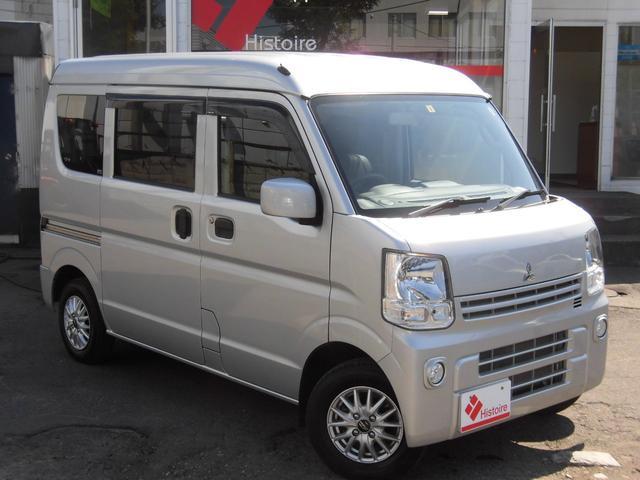 三菱 ミニキャブバン ブラボー 4WDナビTVシートカバ-LEDライト禁煙1オーナ