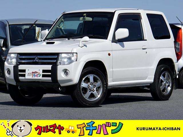 三菱 パジェロミニ VR ターボ車  サビ無 4WD エアバッグ Wエアバッグ エアコン パートタイム4WD AW CD再生 ABS ワイヤレスキー PS