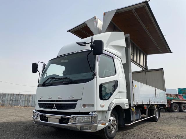 三菱ふそう  アルミウィング ドライバン 箱車 ベッド付き バックカメラバックモニター付き ワイドキャブ 240馬力 6MT 積載2900kg 総重量8トン未満 型式FK61F