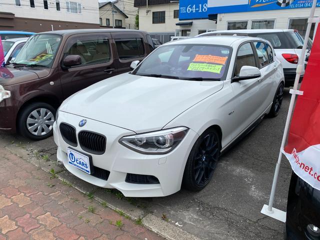 BMW 1シリーズ 116i Mスポーツ /フルカスタム/革シ-ト(赤)/キ-レス/スマ-トキ-/盗難防止システム/禁煙車/HID/バックカメラ/ドライブレコ-ダ-/シ-トヒ-タ-/MBクォートシステム/キッカ-ウ-ハ-/ABS/