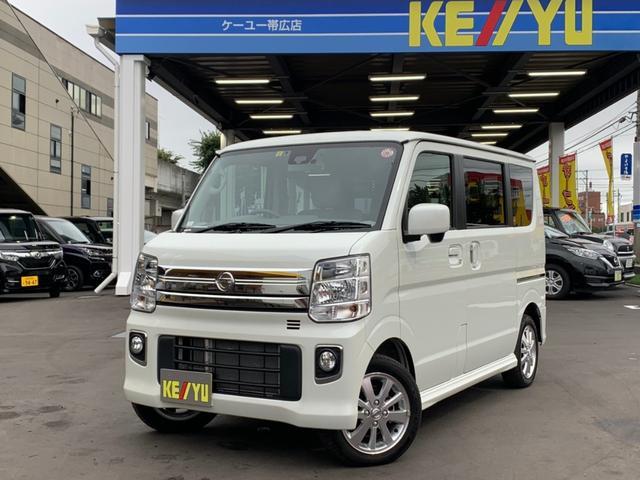 日産 NV100クリッパーリオ E 4WD・レーダーブレーキサポート・メモリーナビ・フルセグTV・Bluetooth・ETC・HIDオートライト・シートヒーター・純正アルミ・