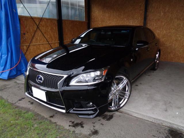 LS LS600h Fスポーツ 黒革・サンルーフ・社外22インチホイール・純正スタッドレス・プリクラッシュ・リアTRDマフラー・TRDハーフバンパー
