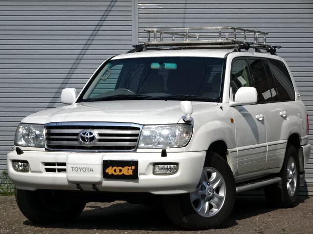 トヨタ ランドクルーザー100 VXリミテッド ディーゼルターボ タイベル交換済み 電動ウインチ ルーフキャリア リアラダー