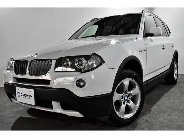 BMW X3 xDrive 25i 後期型 6速AT 純正HDDナビ 電動格納ワイドモニター 革巻ステアリング ステアリングスイッチ レザーコンビシフトノブ ミラー一体式ETC ブラックレザー メモリー機能付パワーシート 横滑り防止