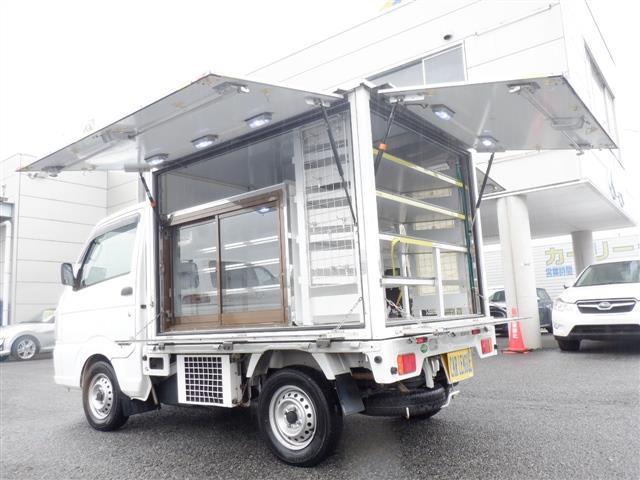 スズキ キャリイトラック KCエアコン・パワステ 冷蔵冷凍三方開販売車 冷蔵ショーケース 外部電源 スタンバイ付き