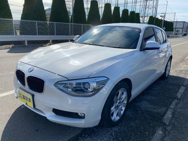 BMW 116i Goo鑑定車 ナビ TV DVD BT 禁煙車 6ヶ月保証付き スマートキー アイドリングストップ HID パールホワイト ドラレコ