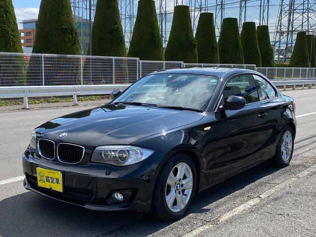 BMW 120i ハイラインパッケージ Goo鑑定車 禁煙車 ヒーター付き皮シート ナビ DVD HID ミラー型ETC キーレス2個 パドルシフト 新車時からの記録簿有ります 6ヶ月保証付き
