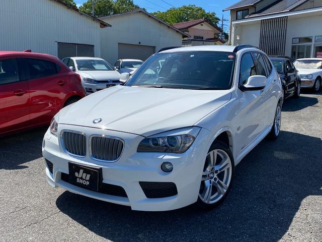 BMW X1 xDrive 28i Mスポーツ ワンオーナー 禁煙車 Mスポーツ 社外ナビ フルセグTV DVD HDD BT バックカメラ 純正ミラー内蔵ETC プッシュスタートスイッチ&キー2個 HID オートライト全国6ヶ月保証付き