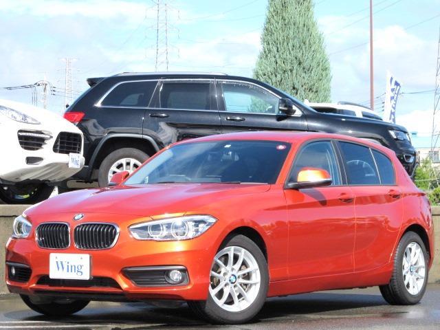BMW 118i 禁煙 純正ナビ LEDヘッドライト バックカメラ 後方パークディスタンス ミラーETC 16インチAW BTオーディオ Mサーバー CD DVD ヴァレンシアオレンジメタリック