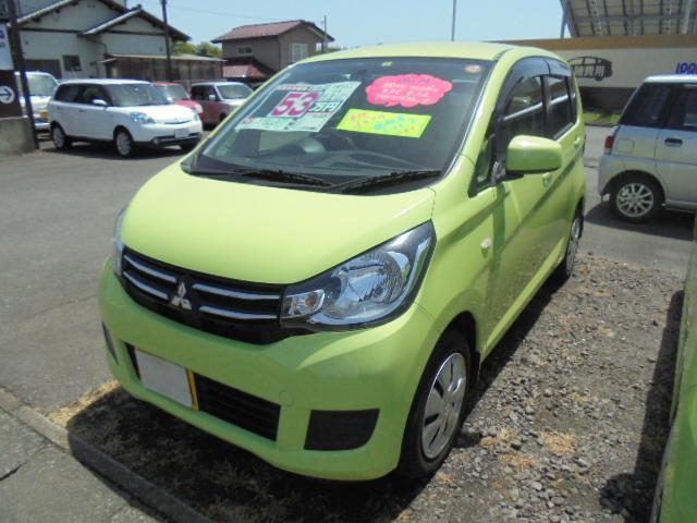 三菱 eKワゴン M SDナビ ワンセグTV アイドリングストップ ETC キーレス 運転席シートヒーター