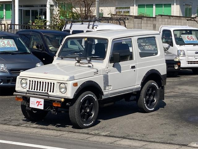 スズキ ターボ 4WD 5速マニュアル CD エアコン フォグランプSJ30グリル 社外バンパー 社外テール ナルディステアリング 社外16インチアルミ 71前期