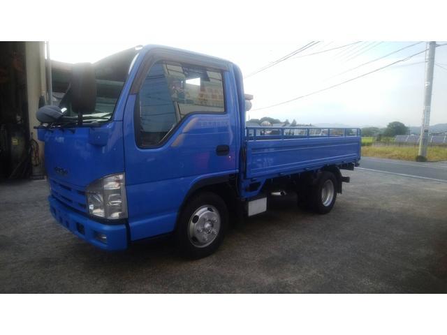 いすゞ エルフトラック  2トン 全低床 5速マニュアル ブルー ディーゼル エアコン