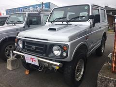 ジムニーワイルドウインド 4WD ターボ ETC 社外ウッドハンドル
