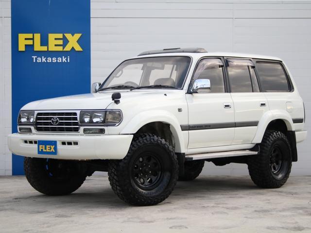 VX 純正ホワイト ディーゼルターボ リフトUP 新品ヘッドライト 新品LEDテール ジムライン16インチAW BFG315MTタイヤ サンルーフ 背面タイヤ