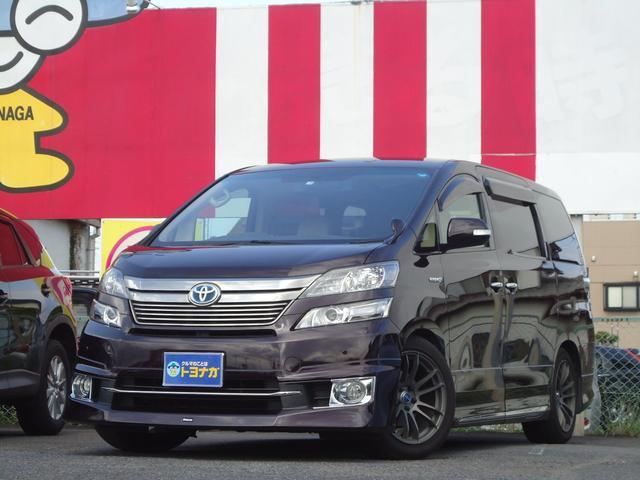 トヨタ X 4WD フルセグHDDナビ 両側電動 車高調 社外アルミ