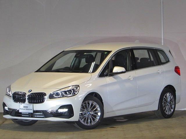 BMW 2シリーズ 218iグランツアラー ラグジュアリー 認定中古車 ワンオーナー 禁煙車 純正ナビ ルームミラー内蔵ETC LEDヘッドライト 衝突軽減ブレーキ バックカメラ 障害物センサー SOSコール 電動リアテールゲート 黒レザー シートヒーター