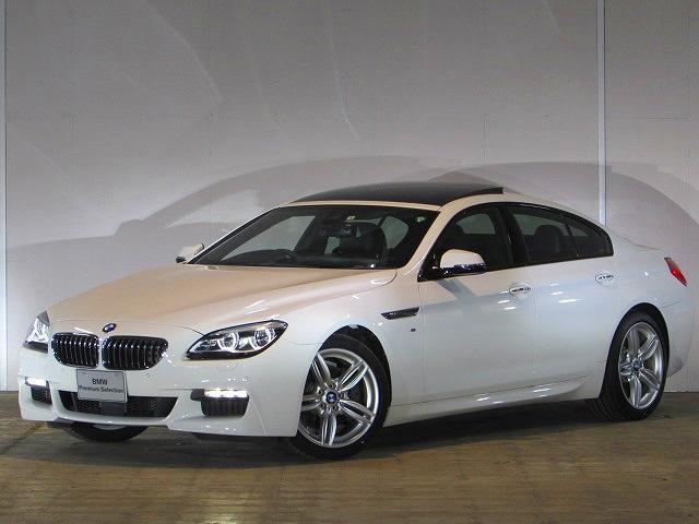 BMW 6シリーズ 640iグランクーペ Mスポーツ 認定中古車 ガラスサンルーフ ソフトクローズドア ヘッドアップディスプレイ アダプティブLEDヘッドライト F Rシートヒーター 純正HDDナビ ETC ACC ブラックレザー バックカメラ PDC