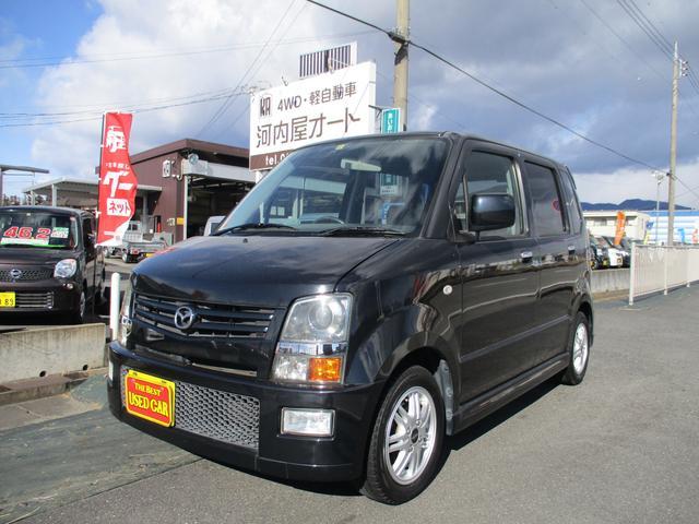マツダ AZワゴン RR-DI ターボ/タイヤ4本新品/セキュリティアラーム/タイミングチェーン仕様/オートエアコン/エアロ/ナビ