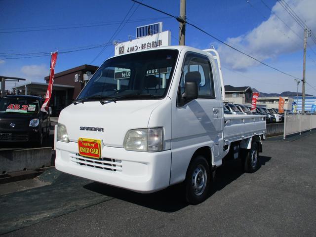 スバル サンバートラック JA                             4WD/5速/ETC/エアコン/運転席エアバック/スタッドレスタイヤ