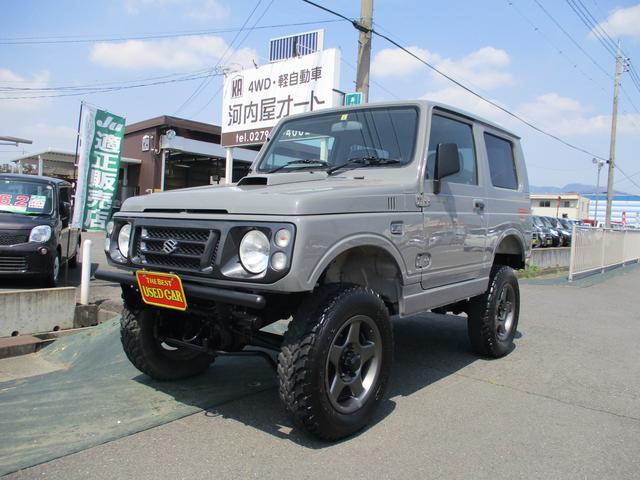 スズキ XL 4WD/リフトアップ/ターボ/全塗装/社外バンパー/社外アルミホイール/社外マフラー/ETC/ナンバー移動キット/タンクガード/タイミングベルト済