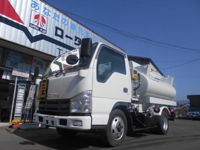 いすゞ エルフトラック 4WD 3KLタンクローリー 2槽式 タンク書類有り
