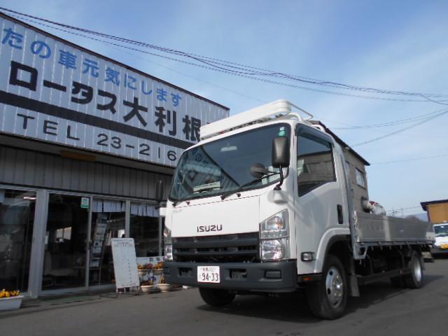 いすゞ エルフトラック 4WD 2t 平ボディー Wタイヤ