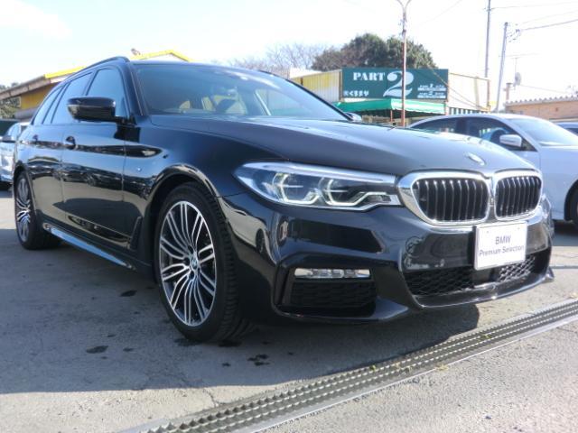 BMW 523iツーリング Mスポーツ ハイライン レザーシート インテリジェントセーフティ 車線逸脱 衝突 車線変更警告 パーキングアシスト オートトランク PDC 360°カメラ