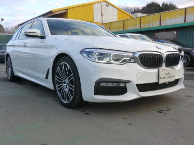 BMW 5シリーズ 523iツーリング Mスポーツ ワンオーナー ハイラインパッケージ インテリジェントセーフティ 歩行者 衝突 車線変更 側面衝突 車線逸脱警告 パーキングアシスト オートトランク 360°カメラ
