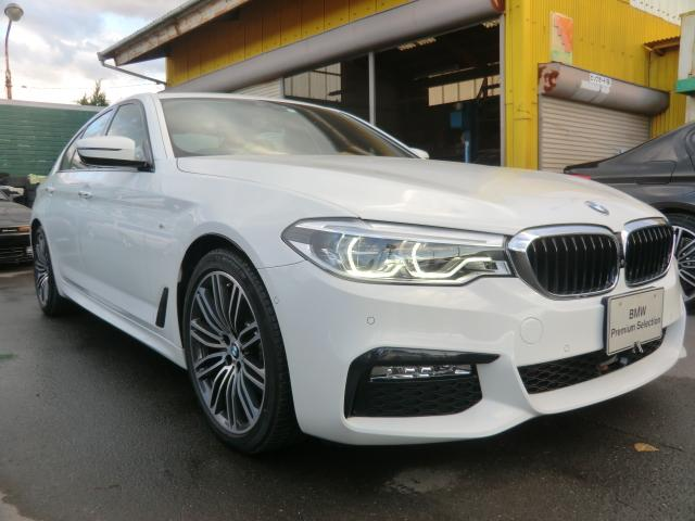 BMW 5シリーズ 523i Mスポーツ ワンオーナー インテリジェントセーフティ 歩行者 衝突 車線変更 側面衝突 車線逸脱警告 パーキングアシスト 360°カメラ オートトランク