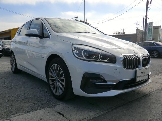 BMW 218dアクティブツアラー ラグジュアリー インテリジェントセーフティ 衝突 歩行者 車線逸脱警告 パーキングアシスト オートトランク コンフォートアクセス レザーシート シートヒーター