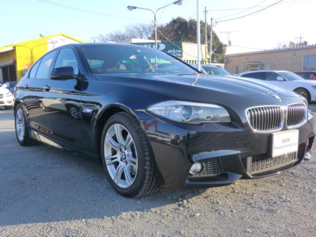 BMW 528i Mスポーツ キセノンヘッドライト ETC レザーシート ヒーター PDC