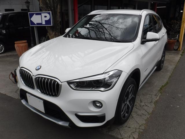 BMW X1 sDrive 18i xライン 衝突被害軽減ブレーキ 純正ナビ バックカメラ HIDヘッドライト スマートキー レザー調シートカバーパワーリヤゲイト