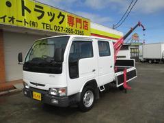 アトラストラック0.9t Wキャブ 3段クレーン 4WD