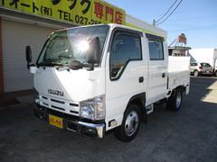 エルフトラック1.4t Wキャブ 全低床 垂直パワーゲート 4WD AT車