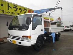 エルフトラック3.5t 4段クレーン ラジコン付