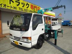 エルフトラック2t 4段クレーン リヤジャッキ ラジコン付 4WD