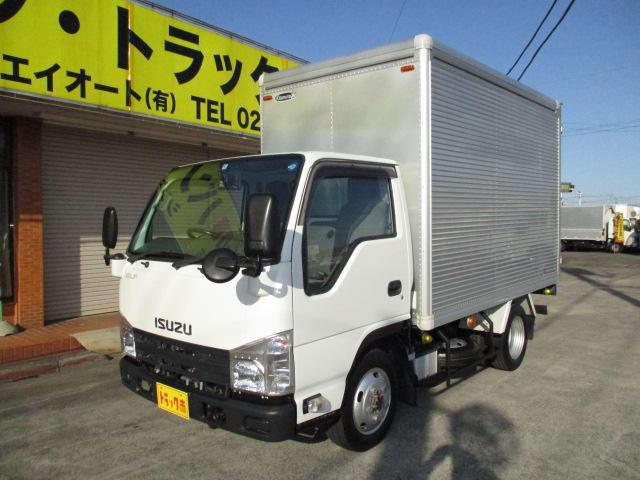 いすゞ エルフトラック 1.5t フルフラットロー アルミバン 4WD オートマ車