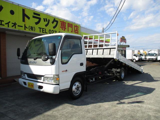 いすゞ 2.7t 重機運搬車 セフティーローダー ラジコン付