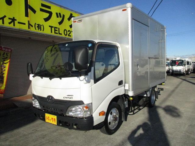 トヨタ ダイナトラック 2t フルジャストロー アルミバン 4WD