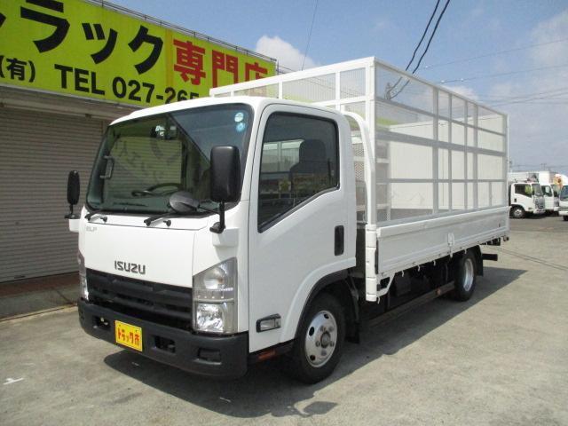 いすゞ エルフトラック 2t ワイド ロング フルフラットロー 産業廃棄物収集運搬車