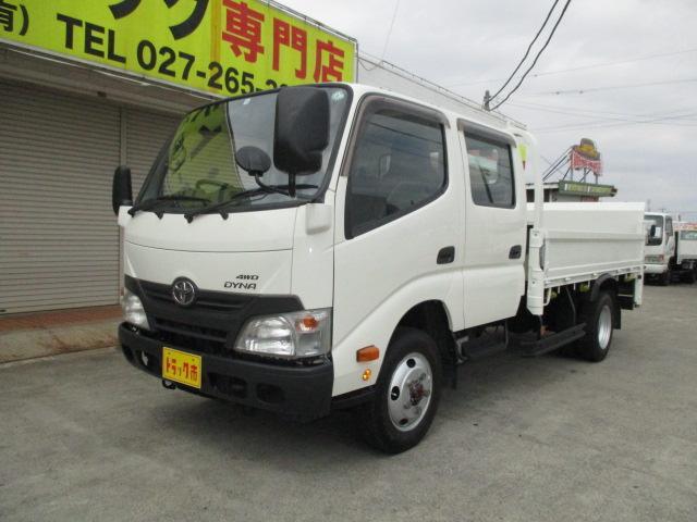 トヨタ 2t Wキャブ ロング 垂直パワーゲート 4WD ゲート昇降荷重600Kg 4WD切替え式 リアヒーター ETC