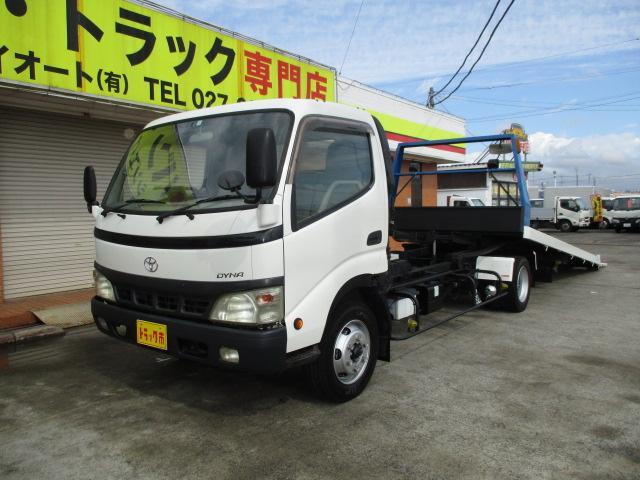 トヨタ 3.5t セフティーローダー ラジコン付 重機運搬車 ウインチ ナビ ETC