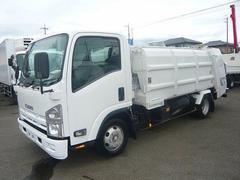 エルフトラックパッカー車6.8立米プレス式新明和連続スイッチ付