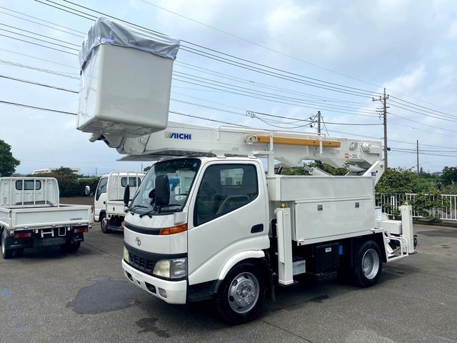 トヨタ ダイナトラック  高所作業車 アイチU505 作業床高さ14.6m サブエンジン付き